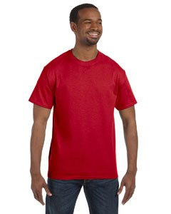 Gildan Adult 5.5 oz 100% Cotton Short Sleeve T-Shirt in Red - X-Large