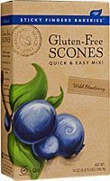 Sticky Fingers Bakeries Gluten Free Scone Mix Wild Blueberry (Pack of 6)