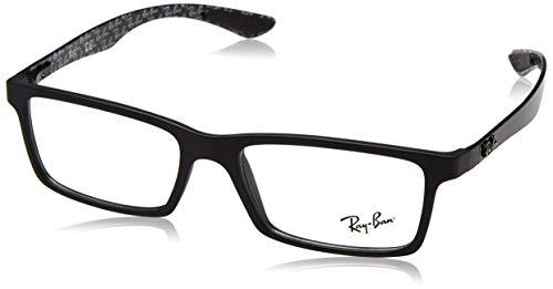 Mens Accessories Eyeglass Frames - Ray-Ban RX8901 Rectangular Eyeglass Frames, Matte Black/Demo Lens, 55 mm