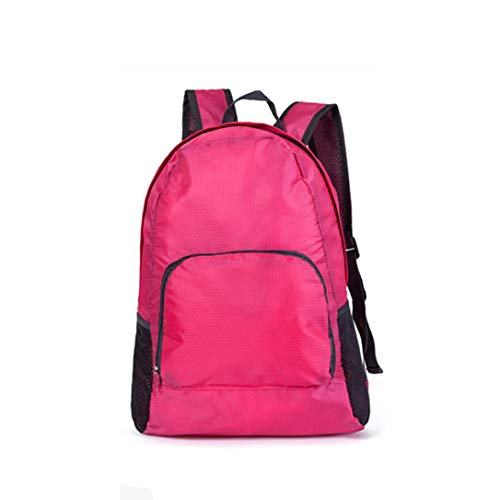 Neutral Folding Traveling Backpack,Outsta Outdoor Trekking Pack Zipper Water Repellent Nylon Lightweight Hiking Daypack Classic Basic Durable (Pink)