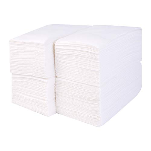 Gmark Linen-Feel Guest Towels - Premium Cloth-Like Paper Hand Napkins, Disposable White Guest Towel (200 Pack) for Kitchen, Bathroom, Weddings or Events GM1059 (Guest Towels Paper Monogrammed)