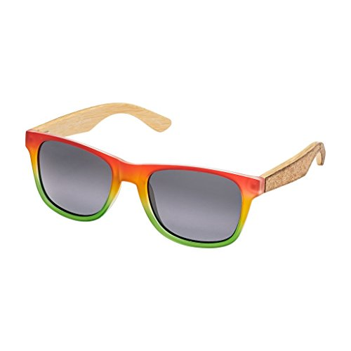 BLUE PLANET CORK BP16052 Rasta Cork Over Natural Bamboo Smoke Polarized (Sunglasses Cork)