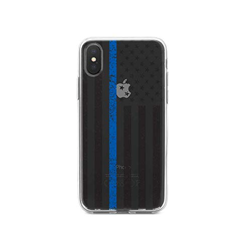 (DistinctInk Clear Shockproof Hybrid Case for iPhone Xs Max (6.5