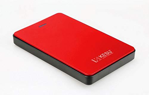 OSB STYLE 2.5 Inch External Hard Drive Storage USB3.0 HDD Portable External HD Hard Disk for Desktop Laptop Server,Red,120GB