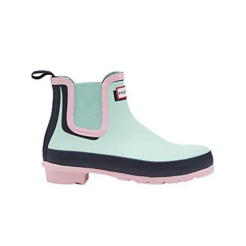 Hunter Boots Aqua (Hunter Women's Original Shadow Print Chelsea Boots, Candy Floss \ Aqua Foam,5 M)