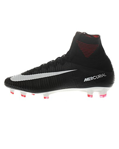 NIKE MENS MERCURIAL SUPERFLY V FG BLACK/WHITE/DARK GREY Shoes zOOIa2E