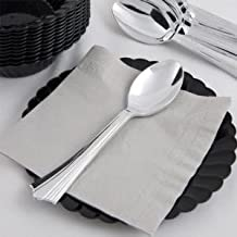 ChefLand Reflections Like Silver Plastic Silverware, Spoons Only - 100 Pieces
