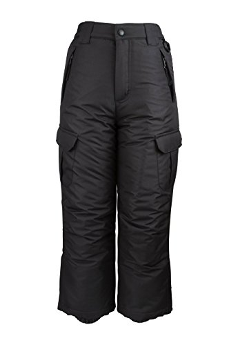 Arctic Quest Womens Insulated Ski Snow Pants with Cargo Pockets Black Medium