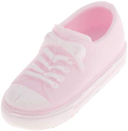 1/6 BJD人形用 人形靴 ドールシューズ キャンバスシューズ ハンドメイド パーツ 着せ替え 全3色 - ピンク