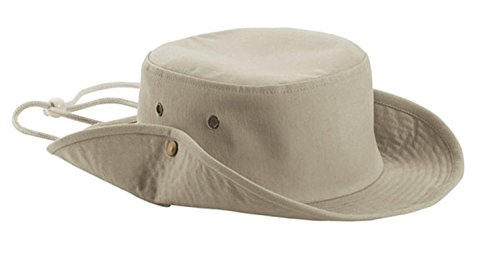 Aussie Style Outback Cotton Hat (Stone)