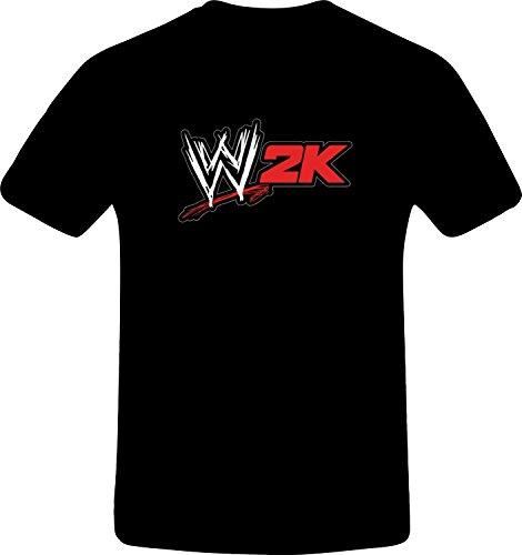 W 2K Wrestling, Best Quality Custom Tshirt (5XL, BLACK) (Best N64 Wrestling Games)