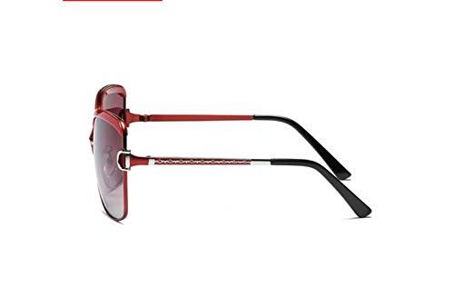 Polarizadas Grande De Alrededor Rojo Polarizado Sol Vino Liwenjun La Marco Gafas Conducción Moda Color Progresiva Protección Uv Película gw5P5qpxt