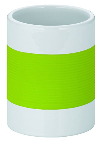 Kela 22561 Tumbler Laletta Collection, White & Lime Green by Kela