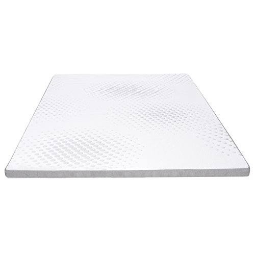 Milliard 2-Inch/5cm Gel Memory Foam Mattress Topper with Washable Removable Soft...