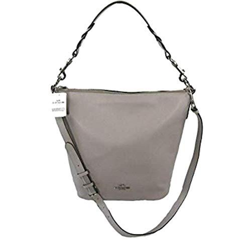 Coach Leather Abby Duffle Purse - #F31507 - Grey Birch/Silver