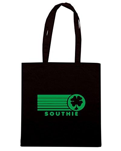 T-Shirtshock - Bolsa para la compra TIR0197 southie irish green tshirt Negro