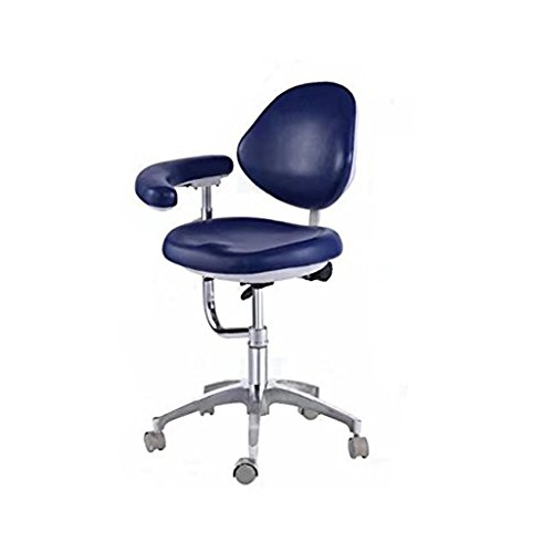 BoNew Dental Stool Assistant Stool Dental Assistant Chair with Armrest PU Leather Height Adjustable by BoNew (Image #4)