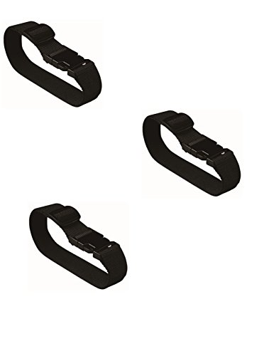 Add a Bag Luggage Straps (Pack of 3), Black