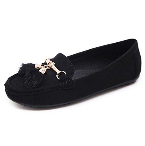 CN36 Black Plano Zapatos Zapatos Ligero Casual US6 Transpirable Mujeres Ponible Purple SHANGXIAN Plantilla EU36 Ante Suela UK4 aAxZBwCq