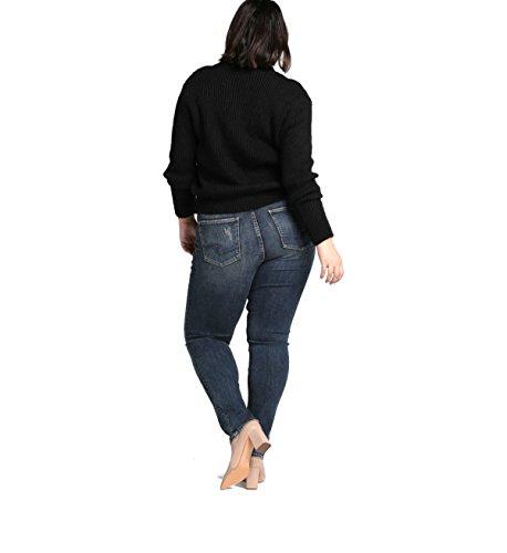 - Silver Jeans Co. Women's Plus Size Avery Curvy Fit High Rise Slim Leg Jeans, Vintage Medium wash, 18x31