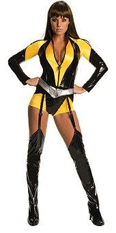 Secret Wishes Women's The Watchman Silk Sceptre Costume, Black/Yellow, M (6/8)