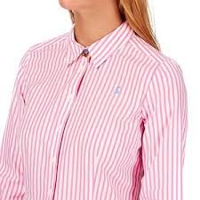 Joules Shirt Pink Kingston Ladies Cotton Button Up Stripe Soft vw4ArqvP