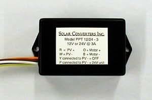 Convertidores de solar Inc. Alimentación Tracker PT 12–3r8.4para pilas de iones de Li 3Amp, 7,2V MPPT controlador de carga