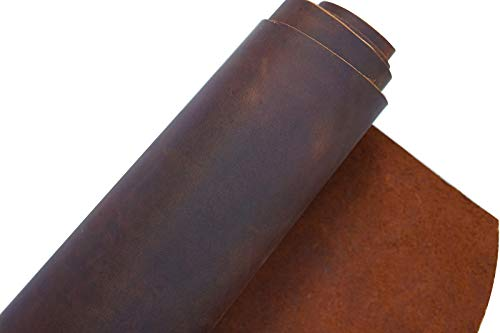 Red Brown Leather Hide 2.0mm Thick Full Grain Cowhide Tooling Leather Straps Arts Crafts Tooling Sewing Hobby Workshop Crafting Hobby Horse Leather Tools- QYHQ