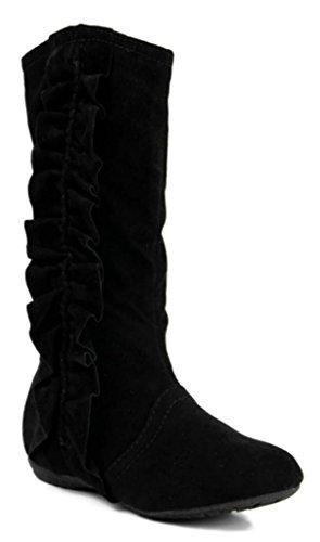 juniors black dress boots - 9
