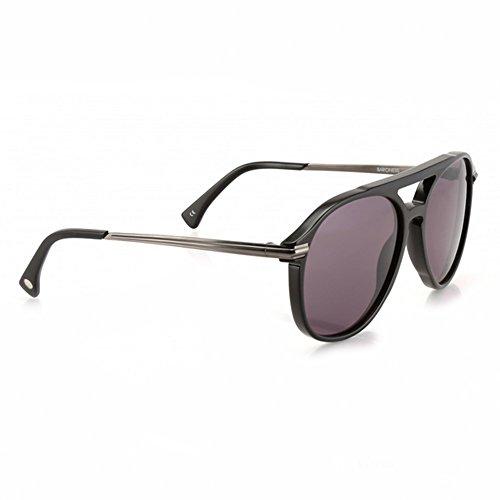 Wildfox Baronne lunettes de soleil en noir gris bronze EAMBAR000 BGNM Grey