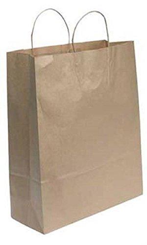 Jumbo Natural Kraft Paper Shopping Bags - Pack of 200 - Ct 200 Bag