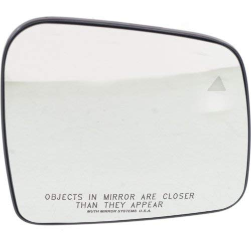 Mirror Glass for Jeep Grand Cherokee 11-17 Right Side Heated w/Backer Plate and BSD