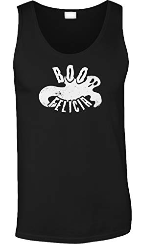 Blittzen Mens Tank Boo Felicia - Ghost - Funny Halloween, XL, -