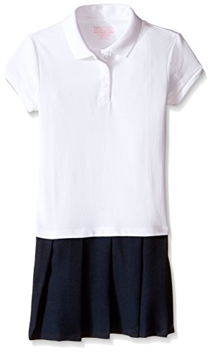 Nautica Girls Uniform Pique Pleated