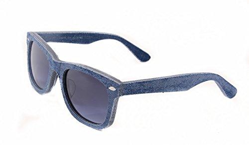 SHINU Original Wayfarer Denim Sunglasses CR39 Lens Denim-trimmed Frames Glasses- - Original Glasses Nerd