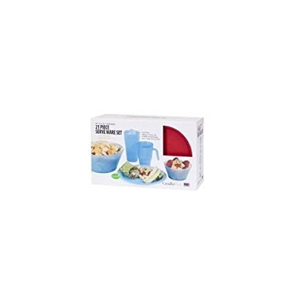 21 Piece Complete Dorm Eating Set   Navy Set by Creative Ware