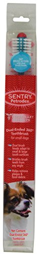 Petrodex Dual Ended 360 Toothbrush for Small Dogs ()