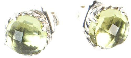 Sterling Silver Chatelaine (David Yurman Women's Sterling Silver Chatelaine Earrings 10mm Lemon Citrine)