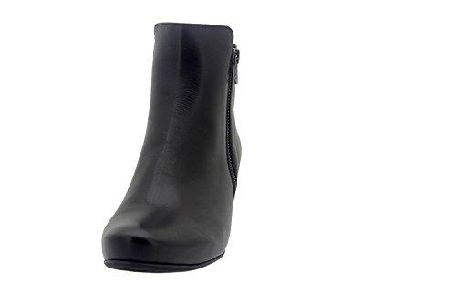 Calzado mujer confort de piel Piesanto 7880 botín casual cómodo ancho Negro