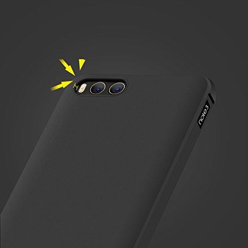 XiaoMi Mi Note 3 Funda, Calidad Premium Cubierta Delgado Caso de TPU Silicona Funda Protective Case Cover para XiaoMi Mi Note 3 Negro
