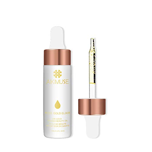 AIKIMUSE Face Oil Primer(1 Count)?Makeup Primer,24k Rose Gold Elixir?Skin Beauty Oil Essential?For Use Under Makeup or as a Face Oil Skin Moisturizing Product