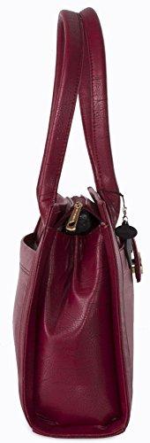 Big Handbag Shop - Bolso de asas de piel sintética para mujer Talla única Beige