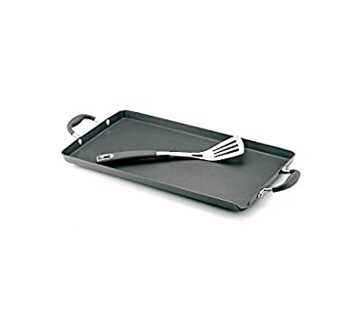 Anolon Advanced Hard Anodized Nonstick 18-Inch by 10-Inch Double Burner Griddle with Pour Spout and Mini Stainless Turner