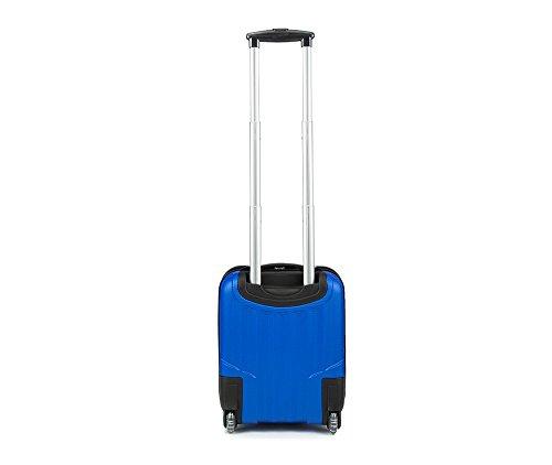 nouveau style 20b2b 1ad23 WITTCHEN Bagage à main, chariot, valise, petite | Coleur: Bleu | Dimension:  32 x 25 x 42 cm | Capacité: 25 L | ABS - V25-10-232-90
