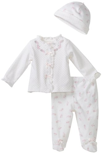 Little Me Baby-Girls Newborn Rosy 2 Piece Pant Set With Hat