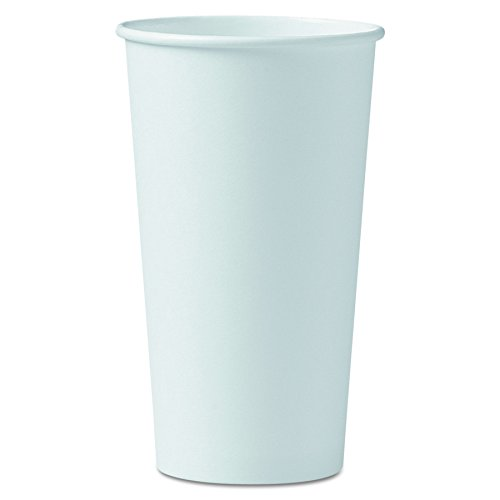 Solo 420W-2050 20 oz White SSP Paper Hot Cup (Case of - Case Cup Hot