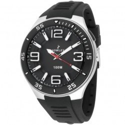 Nowley 8-6189-0-1 , Reloj de hombre, correa en silicona
