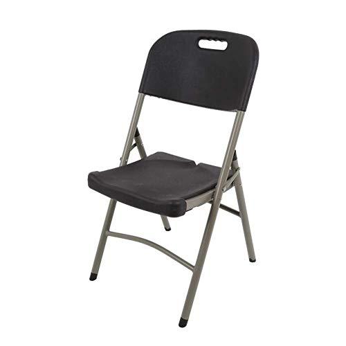 JIEER-C - Silla de oficina para el tiempo libre, plegable, silla de camping de plastico para uso intensivo, sillas de exterior, uso duradero y resistente