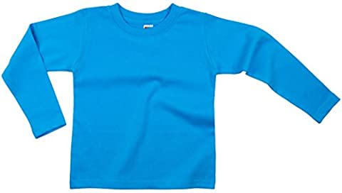 Earth Elements Baby Girls' Long Sleeve T-Shirt 6-12 Months Turquoise - Turquoise Girls Shirt