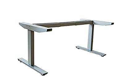 Ergomax Electric Height Adjustable Sit-Stand Desk Dual Motor (Grey)